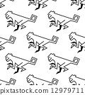 seamless, monkey, pattern 12979711
