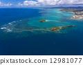 島 海景 波浪 12981077