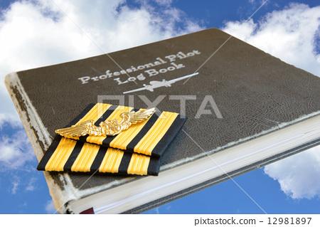 Pilot log book and  pilot sign. 12981897