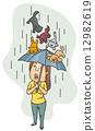 pet, dogs, rain 12982619