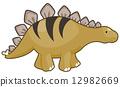stegosaurus, dinosaur, illustration 12982669