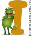 alphabet, cartoon, iguana 12982765