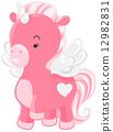 Cute Pink Unicorn 12982831