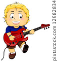 Kid with Electric Guitar 12982834