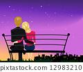 vector, dating, illustration 12983210