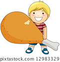 Boy with Fried Chicken 12983329