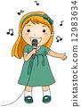 노래하다, 어린이, 아동 12983634