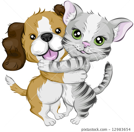 Dog and Cat 12983654