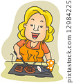 Grill Lady 12984225