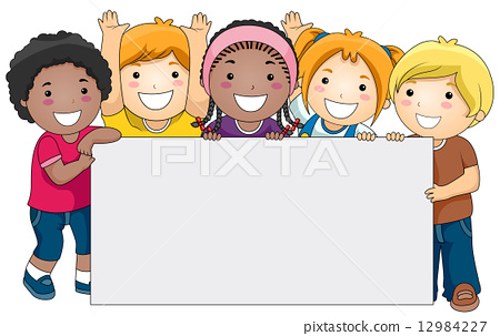 Kids with Blank Board 12984227