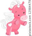 Cute Pink Unicorn 12984479