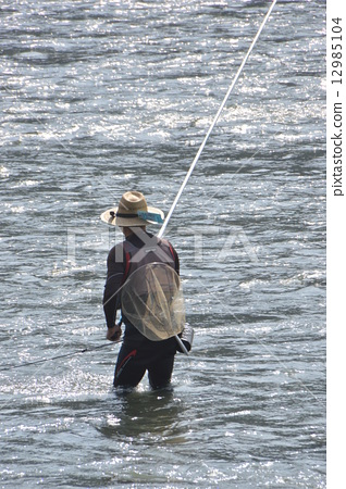 Ayu fishing of Sagami River Sagamihara city 12985104