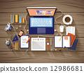 조직, 책상, 현대 12986681