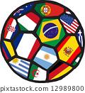 Football soccer ball made of flags. Vector 12989800