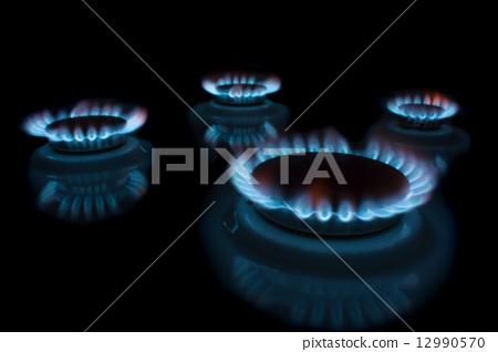 Burning gas 12990570