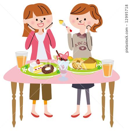 甜食 甜点 女人 12995718