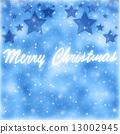 Merry Christmas greeting card border 13002945