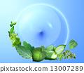 綠色地球圖像 13007289