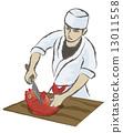 一个降低鱼的厨师 13011558