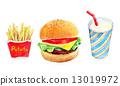 漢堡 快餐 食物 13019972