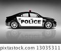 3D police car 13035311