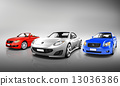 Multi Colored Three Dimensional Modern Cars 13036386
