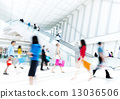 Motion Blurred People in the Shopping Mall 13036506