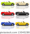 Collection of Multicolored 3D Modern Cars 13040286