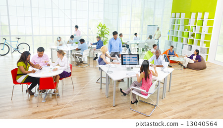 Group of Business People in the Office 13040564