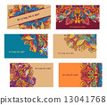 vector, template, colorful 13041768