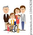 資深女性輪椅家庭關心 13042828