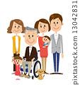 資深男性輪椅家庭關心 13042831