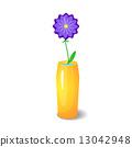 Single flower in vase 13042948