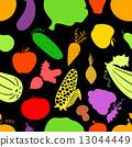 vegetables, vector, seamless 13044449