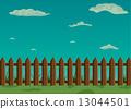 wood, sky, fence 13044501