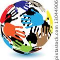 palm, arm, globe 13044906