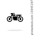motorbike, icon, transportation 13045197