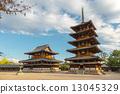 horyu-ji, five-storied pagoda, nara city 13045329