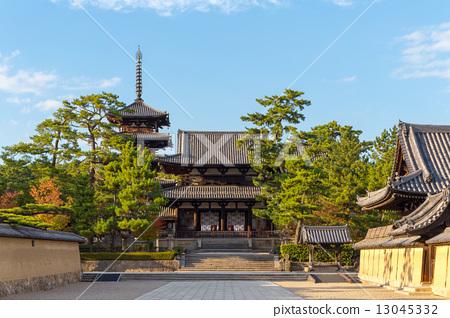 法隆寺 奈良市 奈良县-图库照片 [13045332] - PIXTA