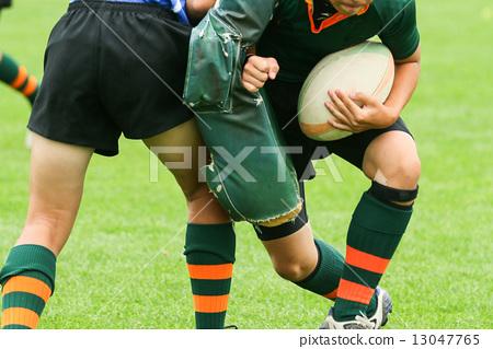 Stock Photo: scram, scrum, rugby
