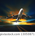 出发 飞机 起飞 13050871