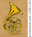 French horn Painting Image 13061181
