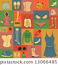 Retro hipsters clothes set 13066485