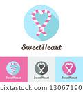 Vector modern flat candy shop or cafe logo  13067190
