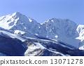 ม้าขาว,ฉากหิมะ,ภูเขาหิมะ 13071278