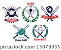 Baseball sporting heraldic emblems 13078035
