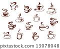 커피, 갈색, 다갈색 13078048