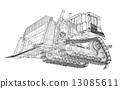 推土機 機器 建造 13085611