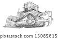 推土機 機器 建造 13085615