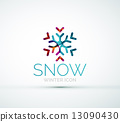 Christmas snowflake company logo design 13090430